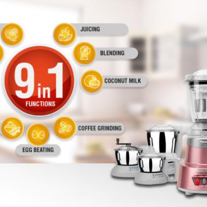 Panasonic MX-AV625 Rose Gold 6 Jar Mixer Grinder With Juicer 600-Watt