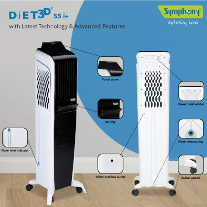 Symphony Diet 3D 55i 55-Litre Tower Air Cooler with Remote